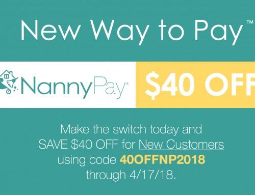Save $40 OFF NannyPay for Tax Season